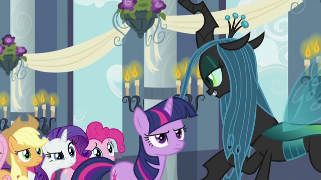 File:Twilight and friends looking at Chrysalis S2E26.png
