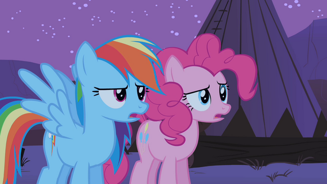 File:Pinkie Pie and Rainbow Dash huh S01E21.png