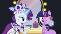 Rarity putting blush on Twilight S2E11