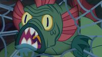 Swamp monster roaring through the web S5E21