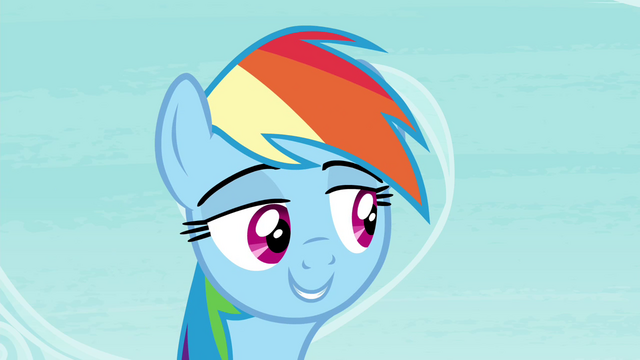 "File:Rainbow ""not everypony gets all freaked out about tests"" S4E21.png"