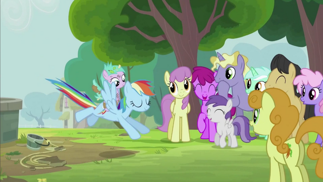 File:Rainbow Dash Landing Gracefully S2E8.png