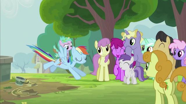 File:Rainbow Dash Landing Gracefully S2E8.png