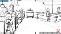 EG3 animatic - Panning shot of the Sweet Shoppe part 2 EG3