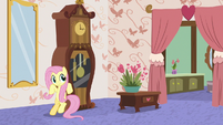Fluttershy moving Discord's furniture S7E12