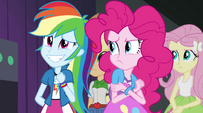 Pinkie Pie rubs her sore arm EG2