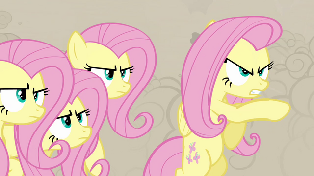 File:Fluttershy pretending to be a changeling S2E26.png