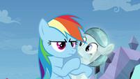 Rainbow Dash suddenly serious S03E12