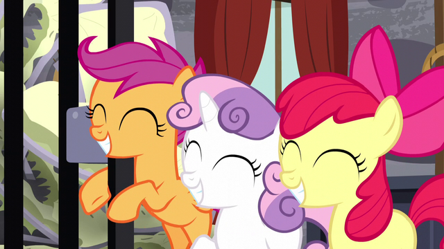 File:Cutie Mark Crusaders grinning happily S5E6.png