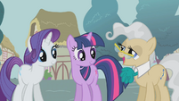 Rarity Twilight and Mayor talking S1E4