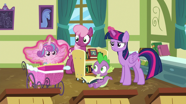 File:Twilight puts Flurry Heart in her stroller again S7E3.png
