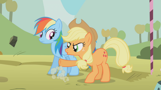 File:Applejack kicks a rock S1E13.png