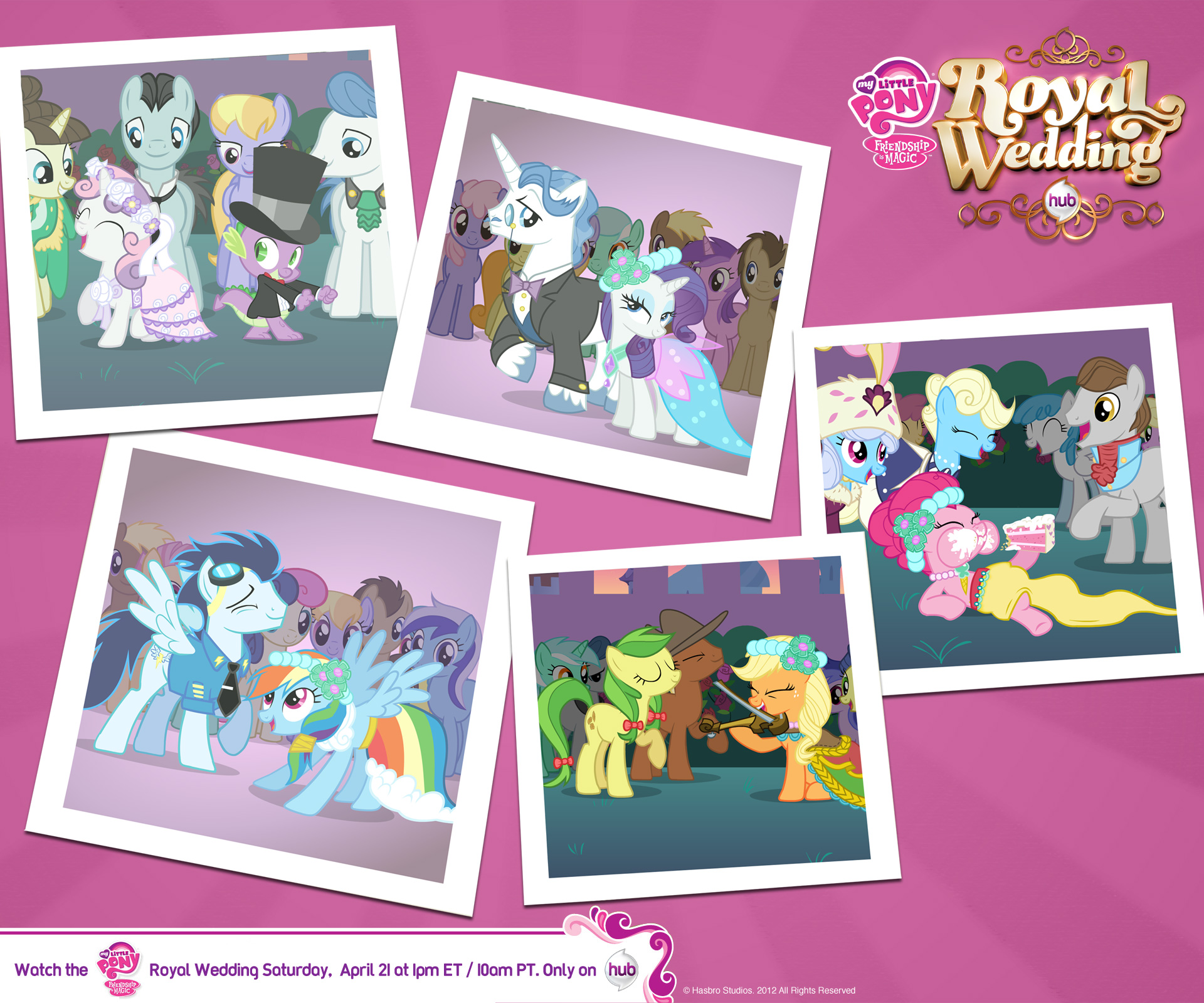User Blog Goldenbluebird Canterlot Wedding Wallpapers My Little Pony Friendship Is Magic Wiki Fandom Ed By Wikia