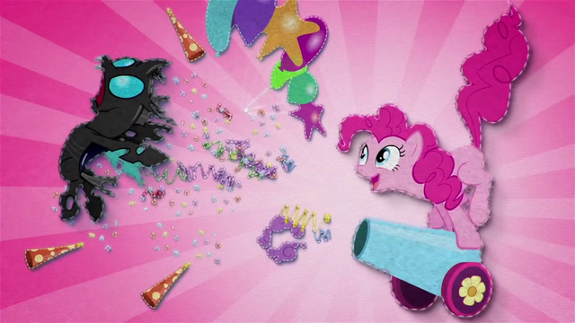 File:Pinkie blasts changeling with her party cannon BFHHS1.png