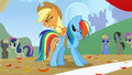 Applejack tying up Rainbow S1E13.png