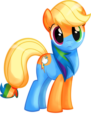 FANMADE Applejack and Rainbow Dash Fused Together