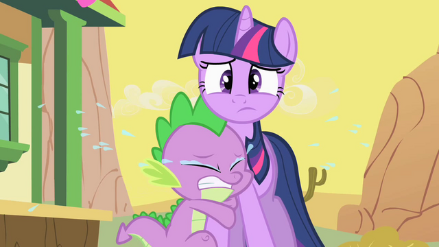 File:Spike Crying On Twilight S1E21.png