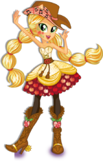 Applejack Rainbow Rocks character bio art 2