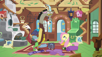 Discord stares nonplussed at Fluttershy S6E17
