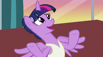 "Twilight Sparkle ""what makes you say that?"" S7E10"