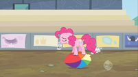 Pinkie Pie sad and ball deflating S2E14