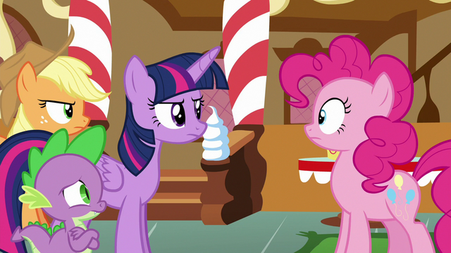 File:Twilight and friends approach Pinkie Pie S6E15.png