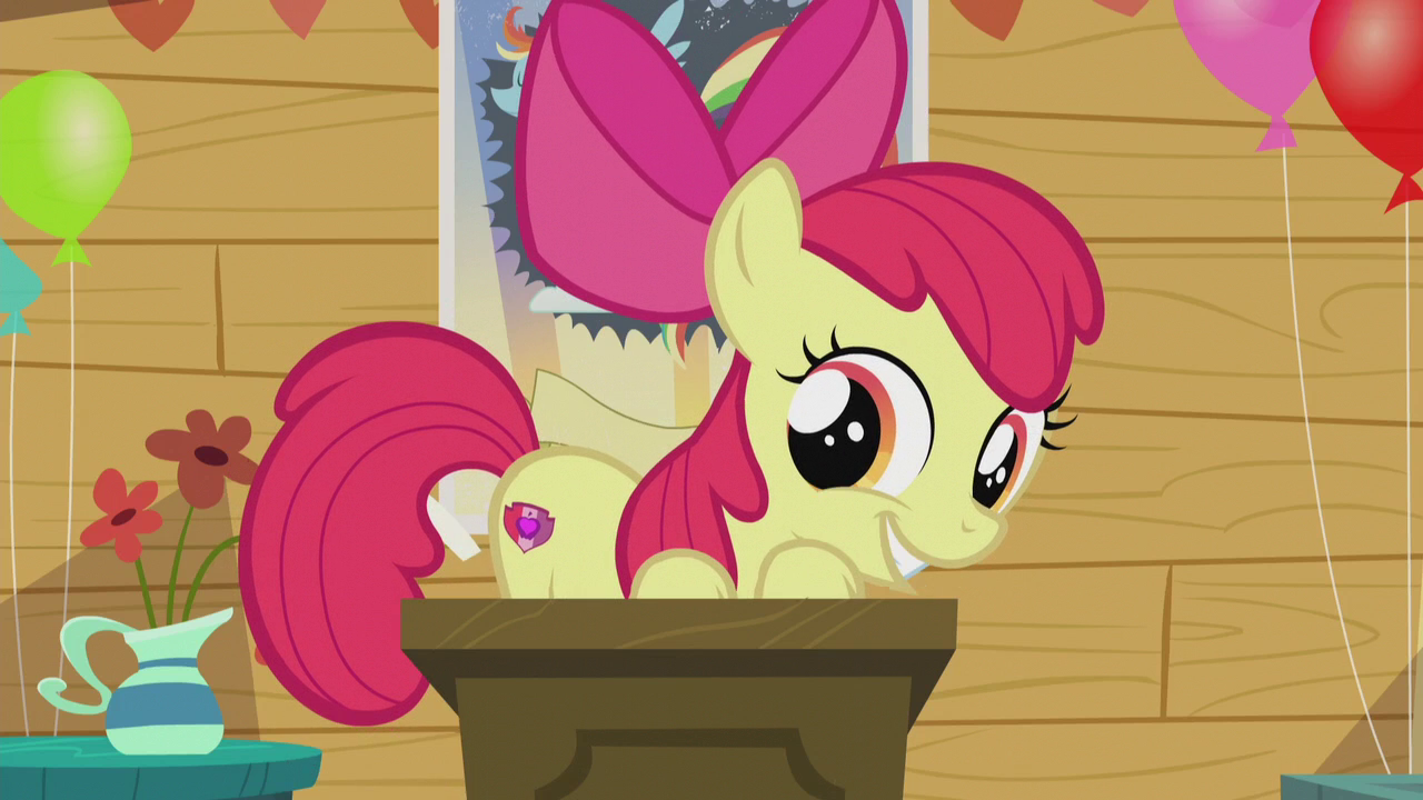 Файл:Apple Bloom showing off her cutie mark S5E18.png