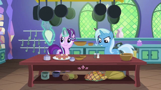 File:Starlight and Trixie in the castle kitchen S7E2.png