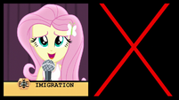 "Fluttershy misspells ""immigration"" EG3"