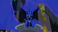 Nightmare Moon glaring at Twilight S4E02