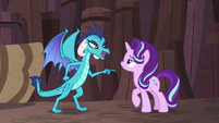 "Princess Ember ""death-defying dragon stuff"" S7E1"