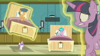 Flurry Heart levitates First Base's hospital bed again S7E3
