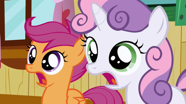File:Scootaloo & Sweetie Belle jaw drop S2E17.png