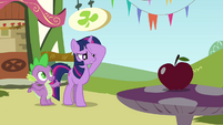Twilight wipes sweat off her brow S3E3