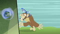 Discord riding on a monkey S4E11.png