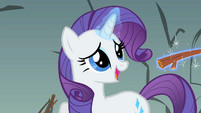 Rarity asking for the exit S01E19