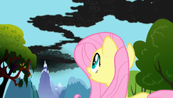 Fluttershy notices the smoke S01E07.png
