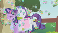 Rarity jumping through Twilight error S01E10.png