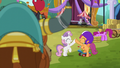 Sweetie and Scootaloo high-hoof S5E11.png