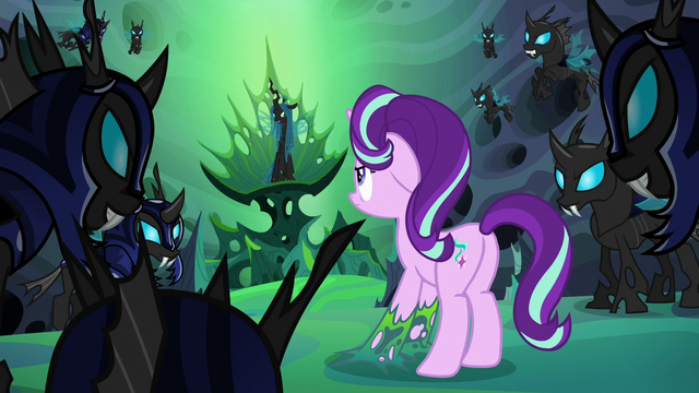 File:Thorax looks at Queen Chrysalis in her throne S6E26.png