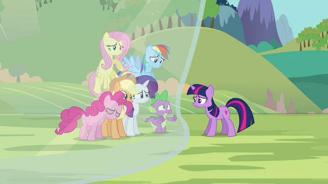 File:Twilight's friends getting blocked out from Twilight S3E05.png