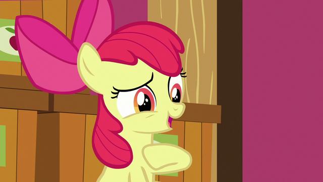 "File:Apple Bloom ""sure I'm sure!"" S6E23.png"