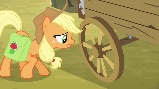 File:Applejack asking about the wagon S4E09.png