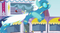 Ponies watching the Wonderbolts fly S5E15