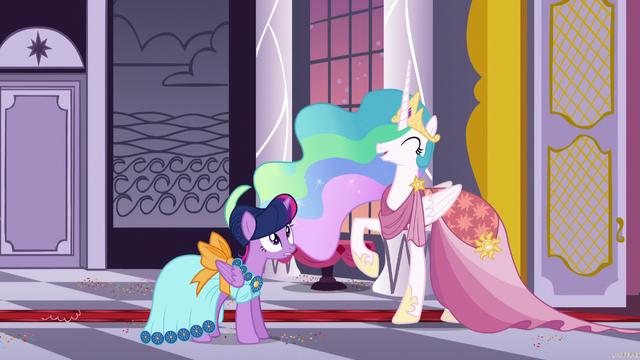 "File:Princess Celestia ""I know!"" S5E7.png"