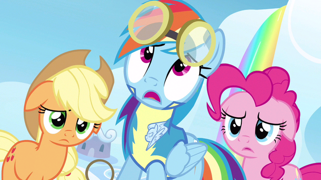 File:Rainbow Dash getting a cheap shot S3E7.png