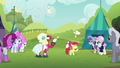 Apple Bloom and Orchard Blossom juggling bowling pins S5E17.png