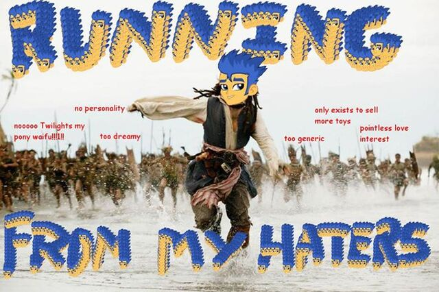 """File:FANMADE Flash Sentry """"Running from my haters"""".jpg"""