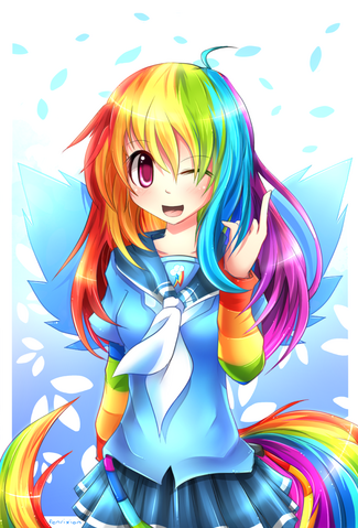 File:FANMADE Mlp gakusei rainbow dash by fenrixion.png