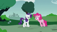Pinkie Pie asks Rarity if everything's okay S7E9
